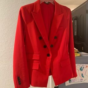 Beautiful lined Express Blazer - vibrant red